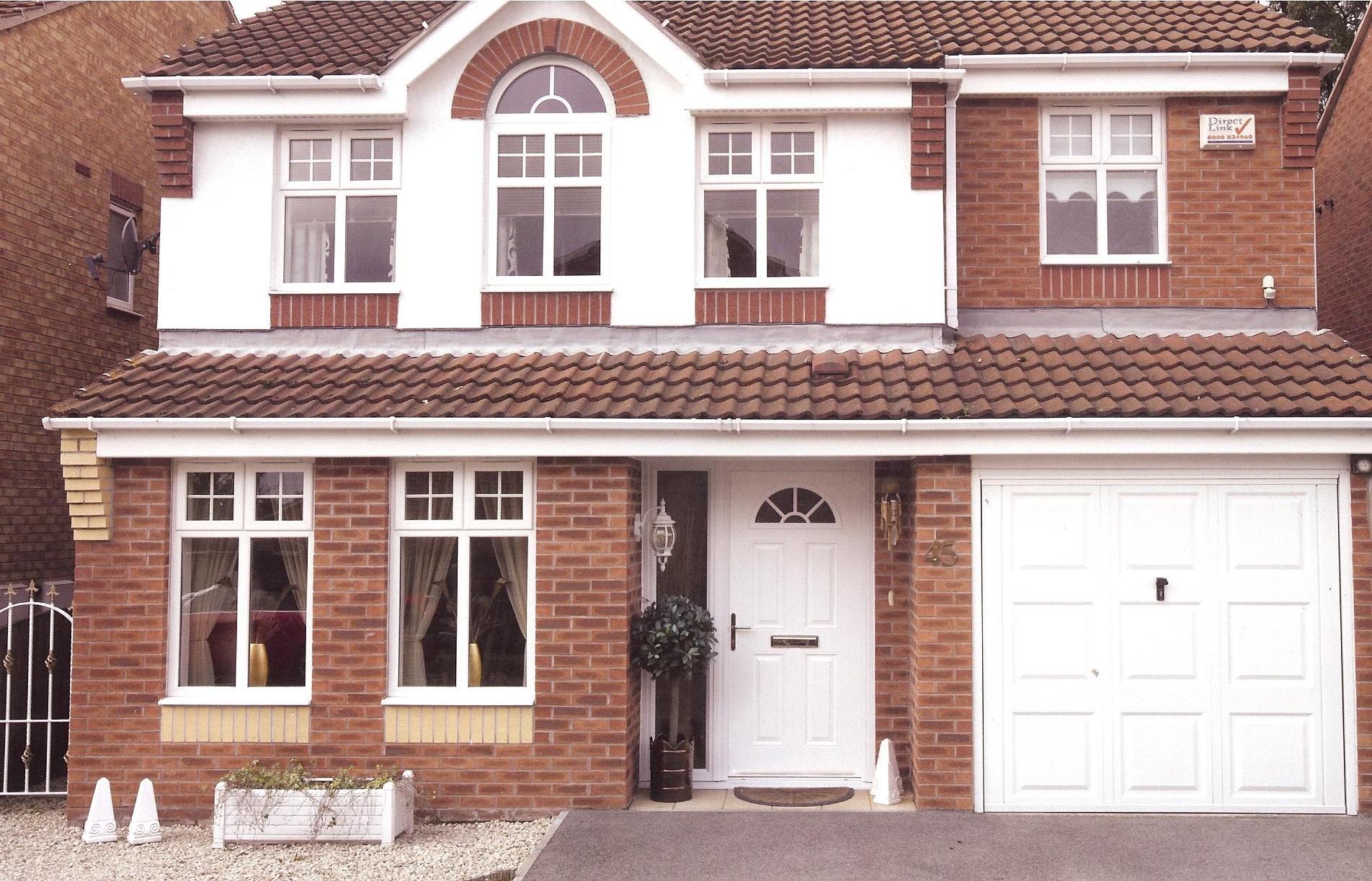 white-composite-front-door